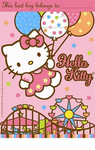 8 Hello Kitty Balloon Dreams Party Loot Bags - 1