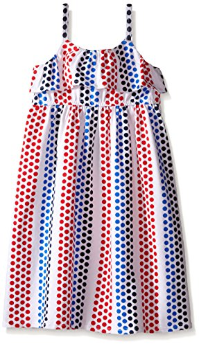 Tommy Hilfiger Big Girls' Printed Challis Maxi Dress, Multi, 5