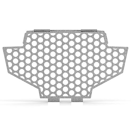 Circle Brushed Stainless Radiator Cover Grill Guard fits: 2011-2014 Polaris RZR 900 - Ferreus Industries - GRL-141-08-Brushed (2011 Rzr Grill compare prices)