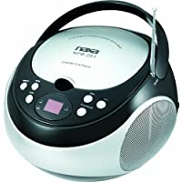 NAXA NPB-251BK Portable CD Player with AM/FM Stereo Radio (Black)