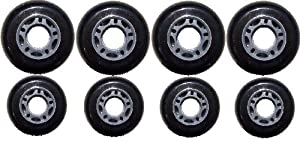 Outdoor ROLLER HOCKEY WHEELS HiLo SET 4-72mm 4-80mm 82a by [BLANKNYC]