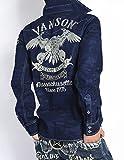 (バンソン) VANSON 長袖シャツ フライングイーグル 刺繍&ワッペン スカル迷彩 長袖デニムシャツ NVSL-606-INDIGO-CAMO (XXL, インディゴカモ)