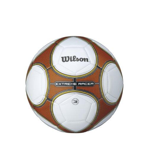 Wilson Extreme Racer, Pallone da Calcio Unisex - Adulto, Bianco/Arancione, Taglia Unica