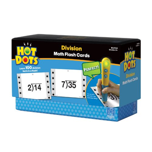 Educational Insights Hot Dots Math Flashcards Division