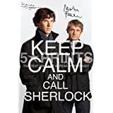 Sherlock Keep Calm Signed PP Benedict Cumberbatch Martin Freeman 12x8 Photo Poster Perfect Giftby Sherlock