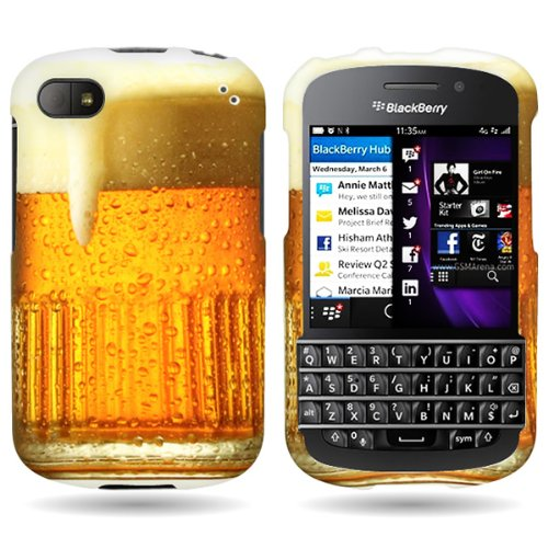 Coveron® Slim Hard Case For Blackberry Q10 With Cover Removal Tool - (Beer Mug)