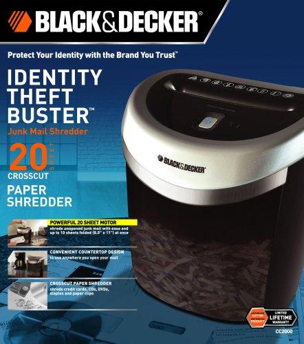 black and decker paper shredder