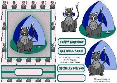 Igloo Schutzhülle Matte mit On a Fat Cat Schutzhülle für Navigationssysteme von Hilary Hallas