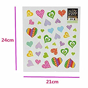 Bargain World Love Heart Luminous Fluorescent Wallpaper Cartoon Wall Sticker by Bargain World Online