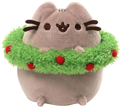 Gund Pusheen Holiday Plush with Wreath