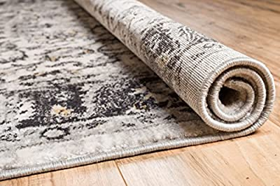 """Essex Blue & Beige Vintage Traditional Persian Oriental Sarouk Area Rug 3 x 10 ( 2'7"""" x 9'10"""" Runner ) Neutral Modern Shabby Chic Thick Soft Plush Shed Free"""