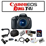 Canon EOS Rebel T4i Digital Camera with EF-S 18-55mm f/3.5-5.6 IS II Lens with Deluxe Bundle Kit Including Opteka Microfiber Deluxe Camera Gadget Bag, Opteka High Definition² Professional 5 Piece Filter Kit (UV, CPL, FL, ND4 and 10x Macro Lens), Opteka X-GRIP Professional Camera / Camcorder Action Stabilizing Handle and MORE!