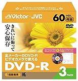 Victor ビデオカメラ用8cmDVD-R ハードコート 60分 フローラルパック 3枚 VD-R60FL3