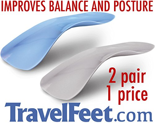 Travel Feet World's Thinnest Arch Supports fits in every shoe - Orthotic Insoles for Instant Pain Relief (5) (Call Inserts compare prices)