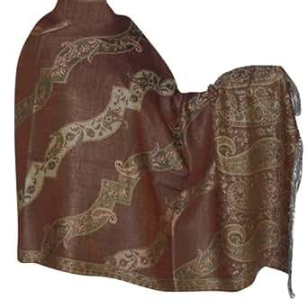 Warmer, modischer Jamawar Schal in Jacquard-Design 203 x 101 cm