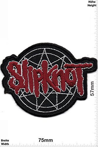 Patch - Slipknot - MusicPatch - Rock - Chaleco - toppa - applicazione - Ricamato termo-adesivo - Give Away