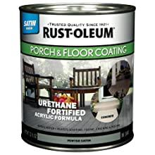Rust-Oleum 244161 Porch Floor Paint, Pewter Satin, 1-Quart