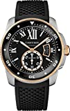 Cartier Mens W7100055 Analog Display Swiss Automatic Black Watch