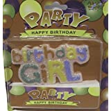 Birthdaygiftwala Birthday Girl Candle(Multicolor, Pack Of 1)