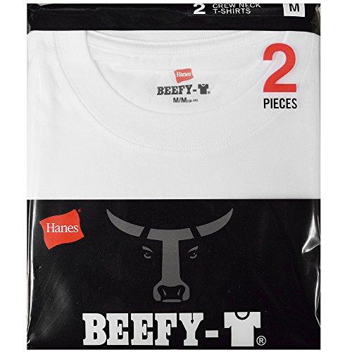 (ヘインズ)HANES Tシャツ BEEFY-T ビーフィー/無地/2枚組/2P/パック/H5180 hanes64535 サイズS 色WHITE