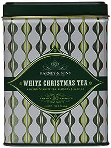 Harney & Sons, White Christmas Tea, 20 Sachets, 1.4 oz, (Pack of 4)