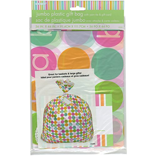Jumbo Plastic Pastel Baby Shower Gift Bag