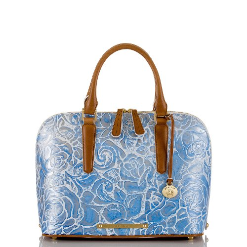 Vivian Dome Satchel<br>Lyon Blue