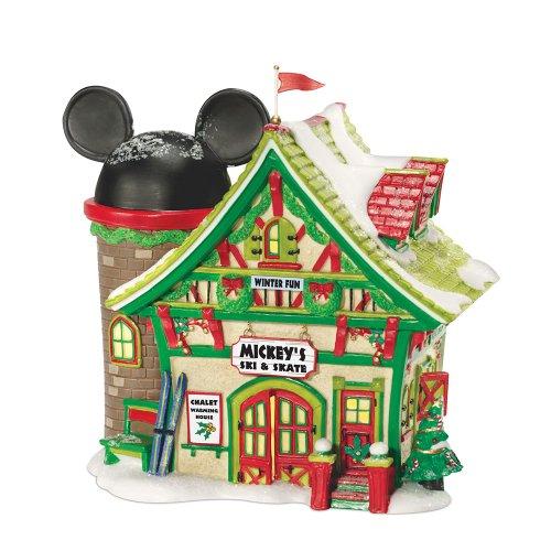 Department 56 Disney Village Lit House Mickeys Ski Chalet, 6x5x6.5-Inch