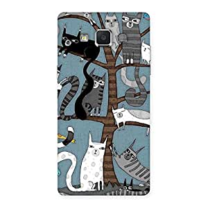 Special Cat On Trees Print Back Case Cover for Samsung Galaxy A5