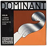 Thomastik-Infeld 135BMS Dominant Violin Strings, Complete Set, 135Bms, 4/4 Size, Chrome Steel Loop End E String
