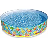 Akshit Inflatable Snapset Pool, Multi Color (6-feet)
