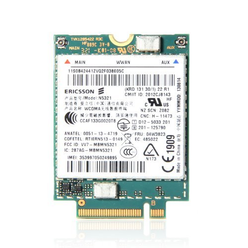Click to buy Ericsson N5321GW 04W3823 3G Module Lenovo Thinkpad WWAN S540 X230s X240s T440 T540p Card - From only $120