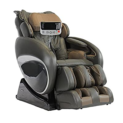 Osaki Os-4000T a Zero Gravity Deluxe Massage Chair, New Foot Roller, S-track Movable Intelligent Massage Robot , 6 Massage Styles (Charcoal)