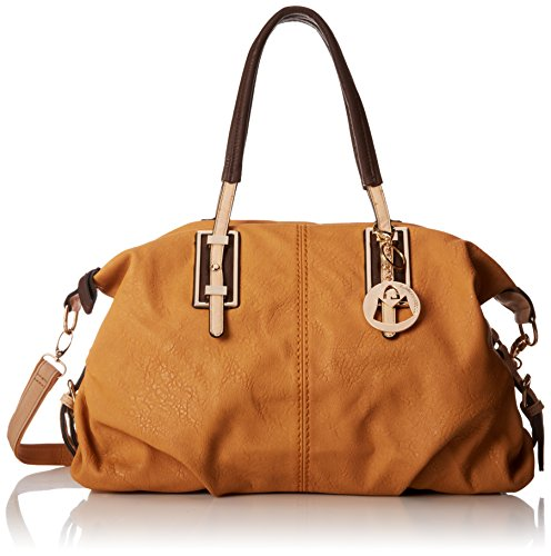 MG Collection Acacia Large Everyday Shopper Shoulder Bag, Caramel, One Size