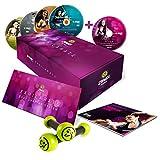 """Zumba Fitness DVD Pack - Prodotto ufficiale Zumba - Nuovo programma completo """"Exhilarate Body Shaping System"""" in inglese, spagnolo e tedesco - 6 sessioni in 5 DVD con DVD Bonus e pesi per tonificare in regalo"""