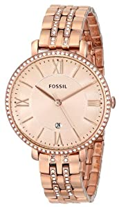 Fossil Women's ES3546 Jacqueline Analog Display Analog Quartz Gold Watch