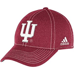 Buy adidas Mens Indiana Hoosiers Structured Fitted Flex Cap by adidas