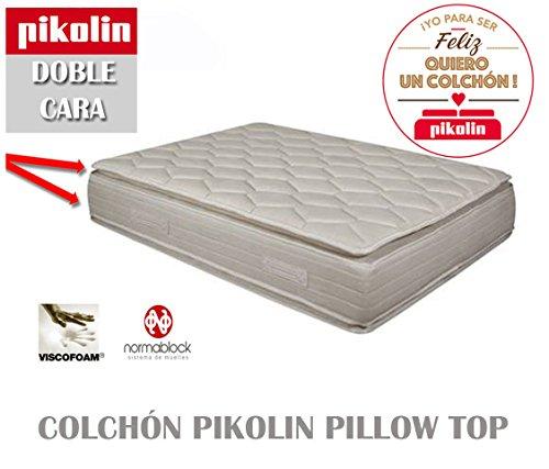 Colchon pikolin pillow top doble cara 33 cm colchones for Medidas de un colchon doble