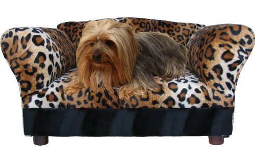 Fantasy Furniture Mini Sofa Leopard Pet Bed For Small Dogs and Cats