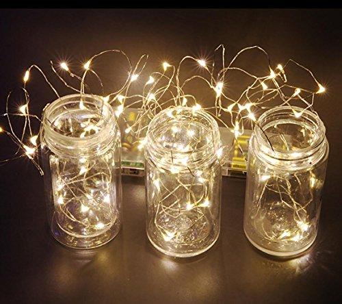 MIDWEC-10-Meter-100-LEDs-Batterie-Betriebene-Wasserfeste-Lichter-Girlande-Silber-Lichterkette-Weihnachtsdekoration-Innen-und-Auen-Warmes-Wei