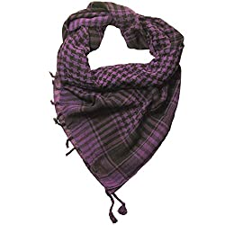 Craftshub Purple Desert Arafat Scarf - Stylish Arafat desert scarf for both men and women
