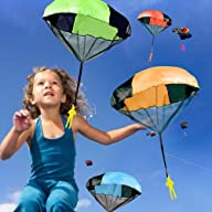 45cm Toy Parachute Kids Hand Throw Pa…