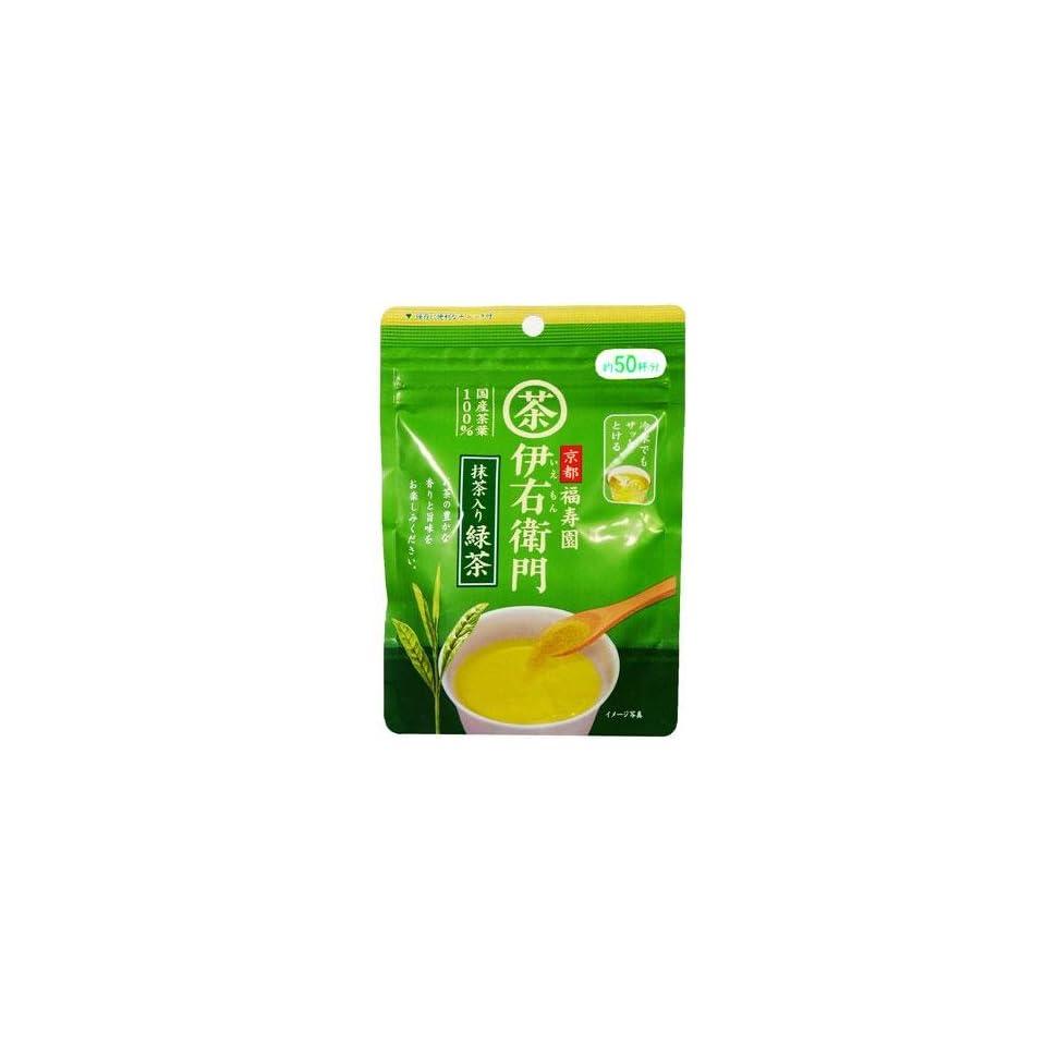 Ujinotsuyu Iyemon Instant Ryokucha with Matcha (Japanese Green Tea with Tea Powder)   1.4 oz