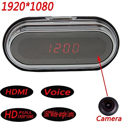 1080P Multi Digital Electronic Alarm Clock Spy Nanny Camera DVR VideoRecorder /ITEM#HGO-IW 73ET271440 by WATER FANJOSE