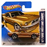 Hotwheels Diecast Car Hot Wheels '67 Ford Mustang Coupe #116 (Muscle Mania Ford 12)