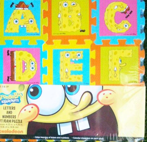 Spongebob Squarepants Letters Amp Numbers Foam Floor Mat