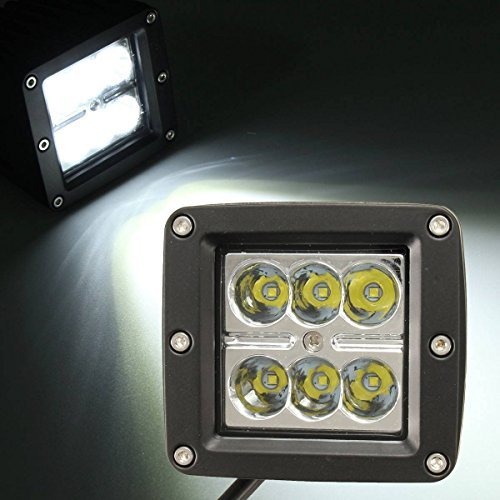 AUDEW 3 Pouces 18W 1200LM 6000K 6 LED Spot Light Travail Lampe Pour Voiture VTT ATV Camion Bateaux