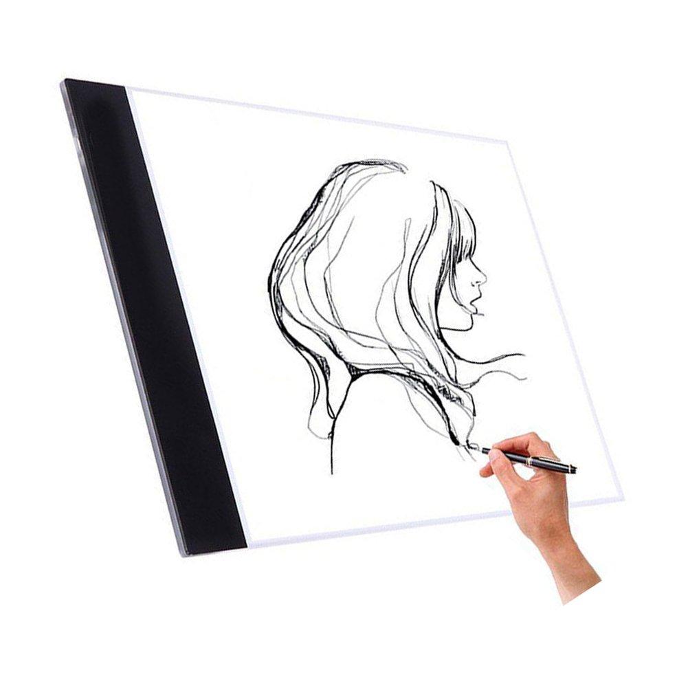 NOPTEG Tracing Light Box, A4 LED Drawing Light Pad 5mm Ultra-thin Art Stencil Board (General Style)
