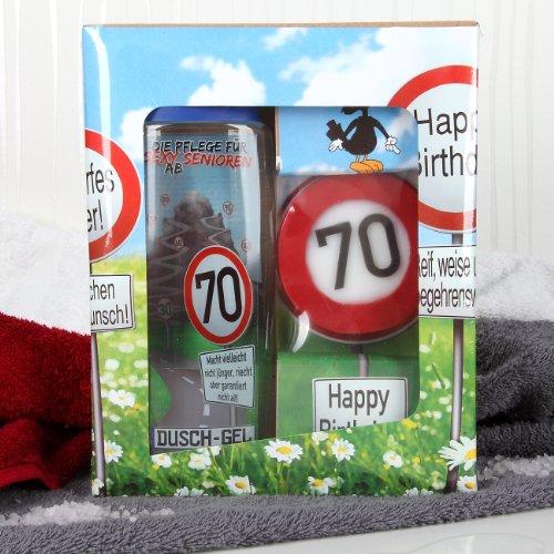 lustige apotheke geschenkset zum 70 geburtstag duschgel. Black Bedroom Furniture Sets. Home Design Ideas