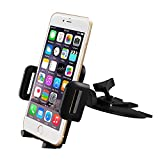 Mpow CD Slot Car Mount, Universal Cell Phone Holder with Three Side Grips for iPhone 7/6s/6 plus, Android Smartphones, etc